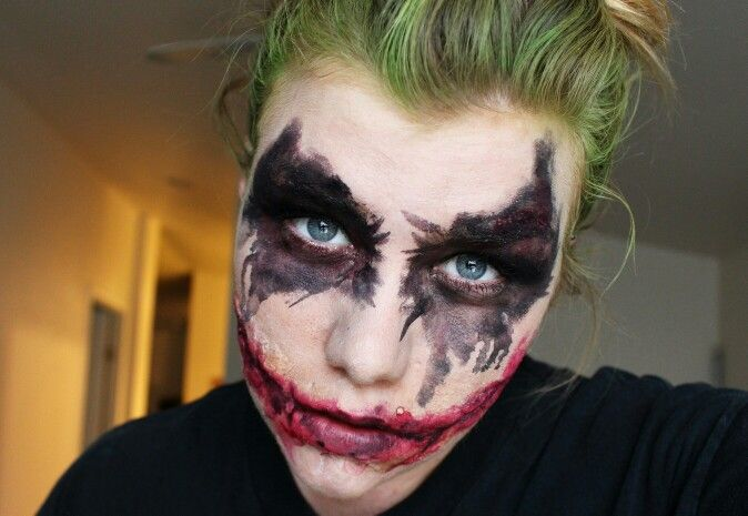 Full on heath ledger joker makeup facepaint with scars special fx makeup vandal_fx