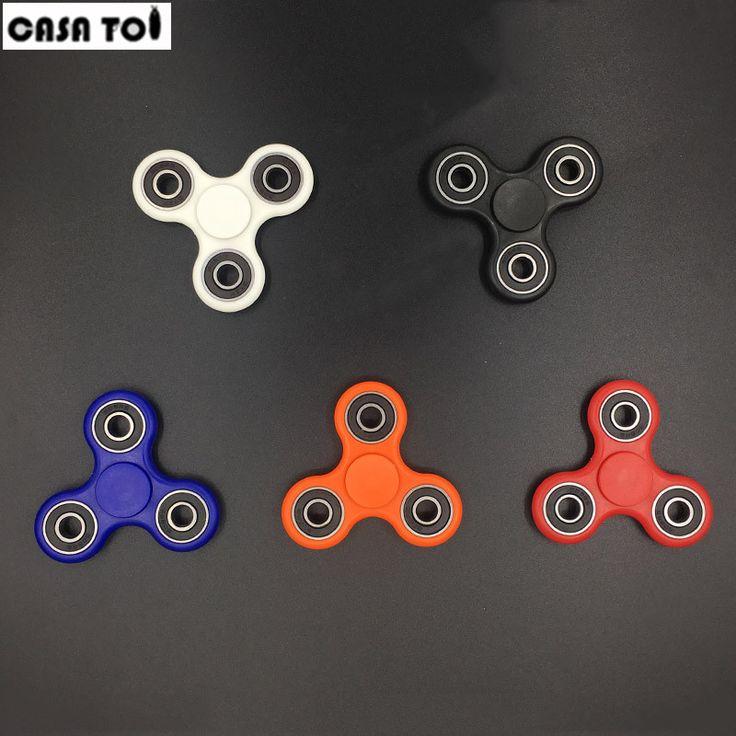 Vingertop gyroscoop Tri-Spinner Fidget Speelgoed Plastic EDC Hand Spinner Voor Autisme en ADHD hand spinner EDC Zintuiglijke Fidget Spinners