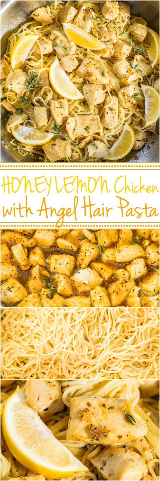 Honey Lemon Chicken with Angel Hair Pasta (via Bloglovin.com )