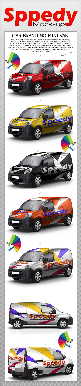 Car sticker design psd - Car Mock Up Mini Van By Rogerio Marcos Via Behance