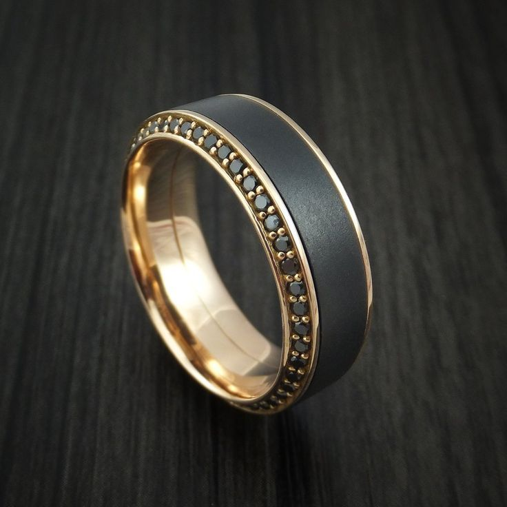 18 Ct Gold Fielled Tungsten Carbide  Belved Edge Band  Ring Engagement Wedding