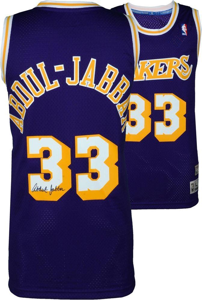 8b841c84e50 Kareem Abdul-Jabbar Lakers Autographed Purple Adidas Swingman Jersey -  Fanatics