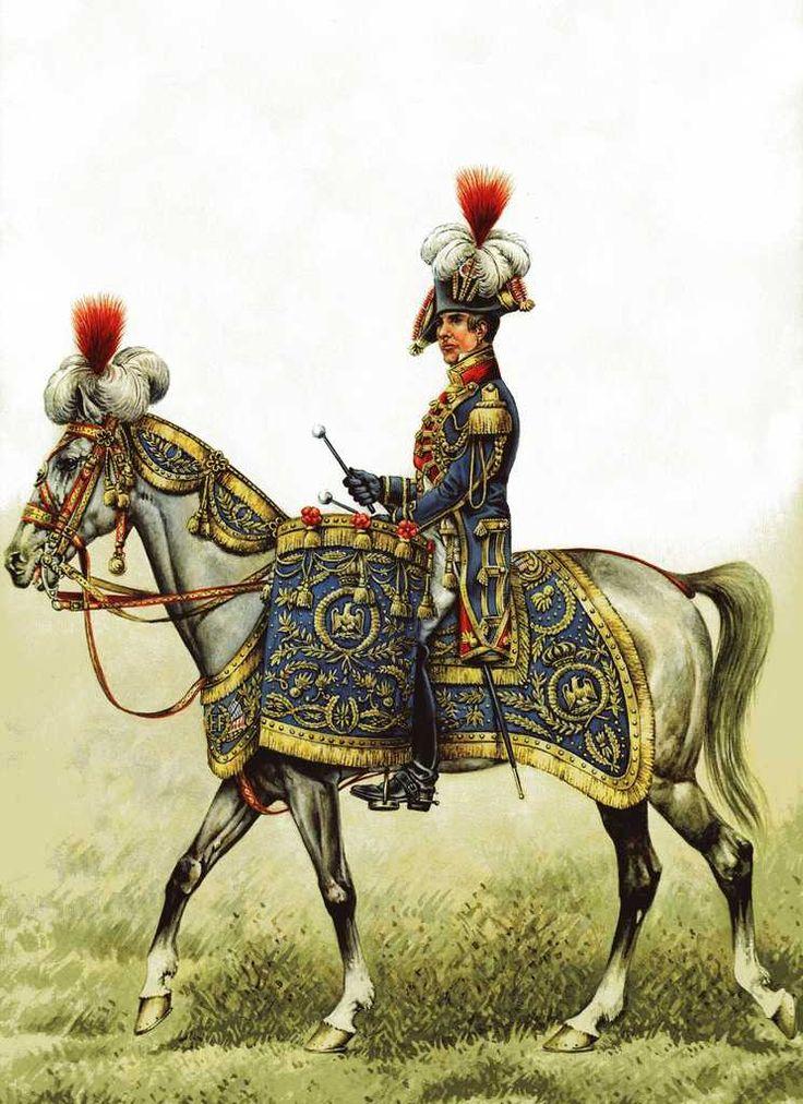 Timpanisti dei granatieri a cavallo della guardia imperiale franecese