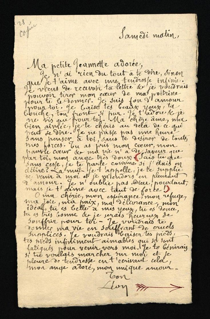 exemple de lettre ancienne