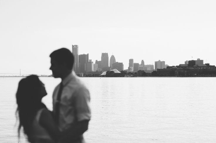 Abandoned City Detroit Engagement // Jessica Bossé Photography