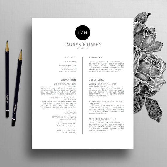 Kreative Lebenslauf Vorlage + Lebenslauf-Vorlage, Bewerbungsschreiben, Referenzen, Mac / PC | Beruflichen Lebenslauf Vorlage, sofort Digital-Download, Lauren
