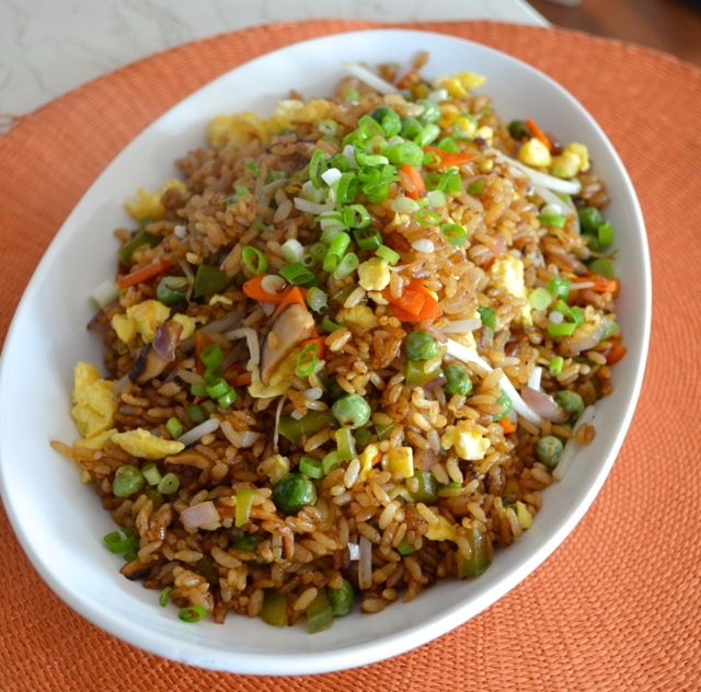Vegetable Fried Rice - vegetarian goodness in every bite, THE WOKS OF LIFE