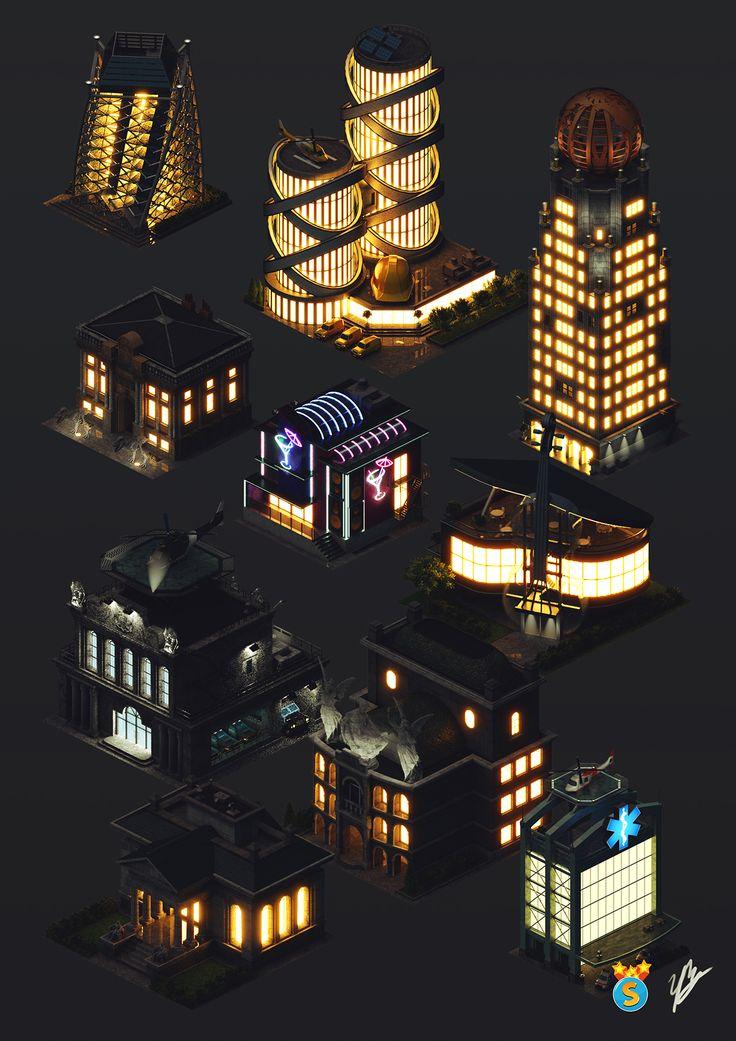 Isometric game graphics: City Island 4 on Behance