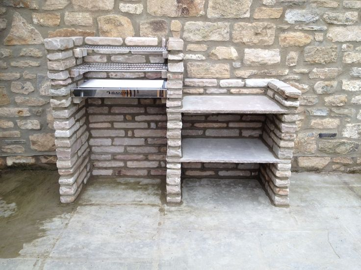 Exceptional Our Home Made Stone Brick Barbeque!