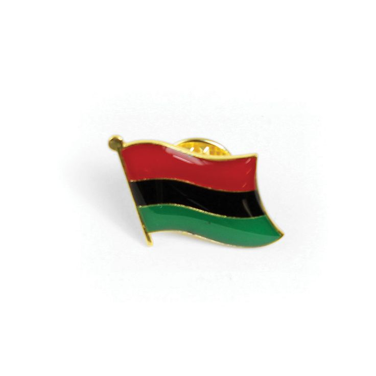 """Afro American Flag Lapel Pin. Size is ½""""."""