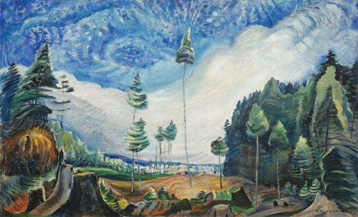 Emily Carr, Loggers' Culls, 1935, oil on canvas, Collection of the Vancouver Art Gallery,  Gift of Miss I. Parkyn, Photo: Trevor Mills, Vancouver Art Gallery