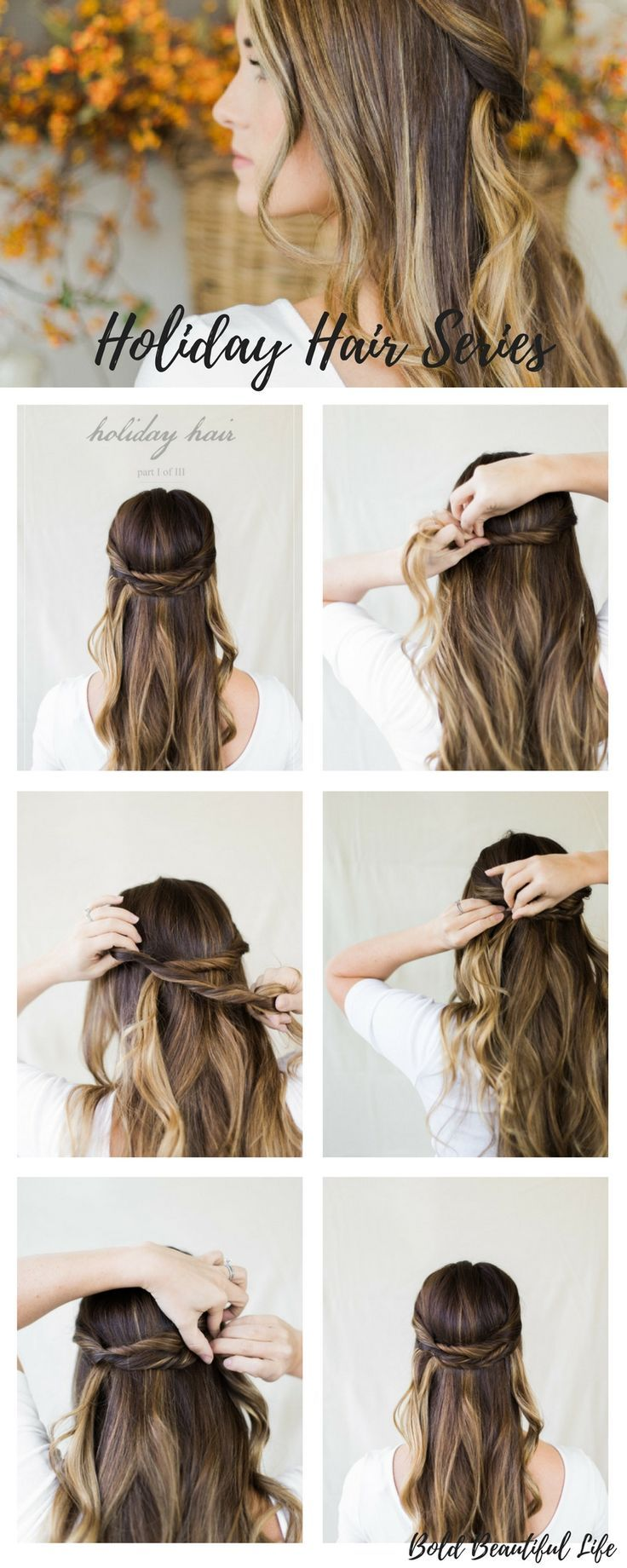 Half Up Hairstyle Tutorial Elegant Hair Style How To With Step By Step Pictures And Instructions Lovely Hair Hair Styles Long Hair Styles Elegant Hairstyles
