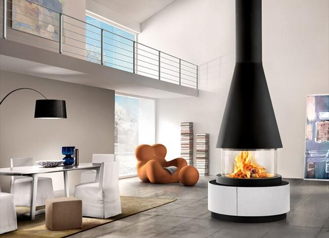 Our beautiful panoramic closed combustion fireplaces...