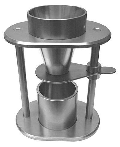 Ensayos de Fluidez (ERWEKA): Los equipos de ERWEKA modelos SMG 697 y SMG 53466 son unidades para la determinación, de una forma reproducible, del parámetro de densidad aparente (a granel) que se puede utilizar con todo tipo polvos o granulados.  http://www.gomensoro.net/