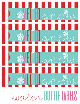 Free Holiday Water Bottle Printable Made These And People Loved