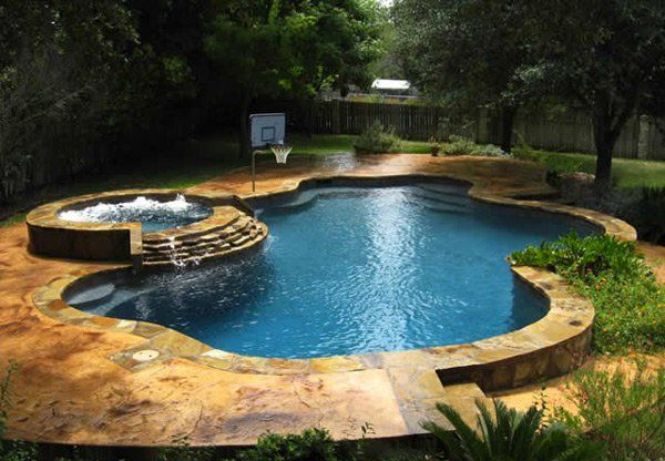 15 fabulous swimming pool with spa designs new pool hot tub rh pinterest com