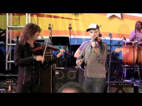 ▶ Devil Went Down To Georgia - Band From TV with Jesse Spencer & Mark Wood (NAMM 2011) - YouTube. Jesses' singing is beautiful and he plays the Violin amazingly.