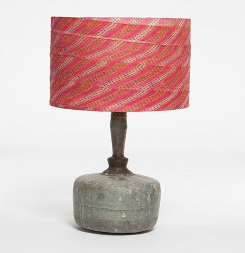 love this lamp: Fabrics Lampshades, Vintage Turban, Repurpo Lamps, Lamps Shades, Cool Lamps, Tables Lamps, Lamps Based, Lamps Lust, Turban Shades