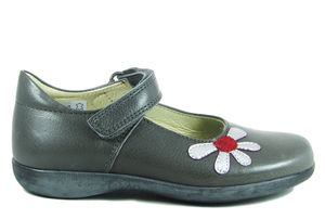 Petasil Bonnie Girls Shoe in Pewter Grey