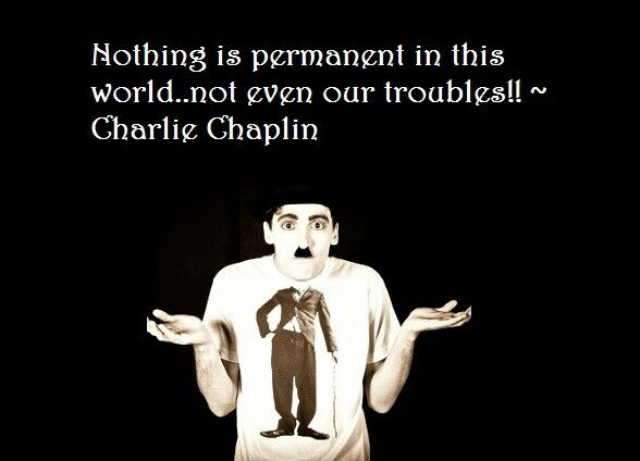 #CharlieChaplin #Troubles #life #quote #motivational