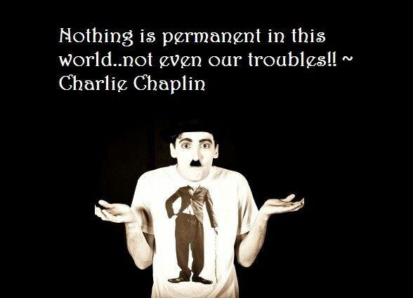 #CharlieChaplin #Troubles #life #quote #motivational
