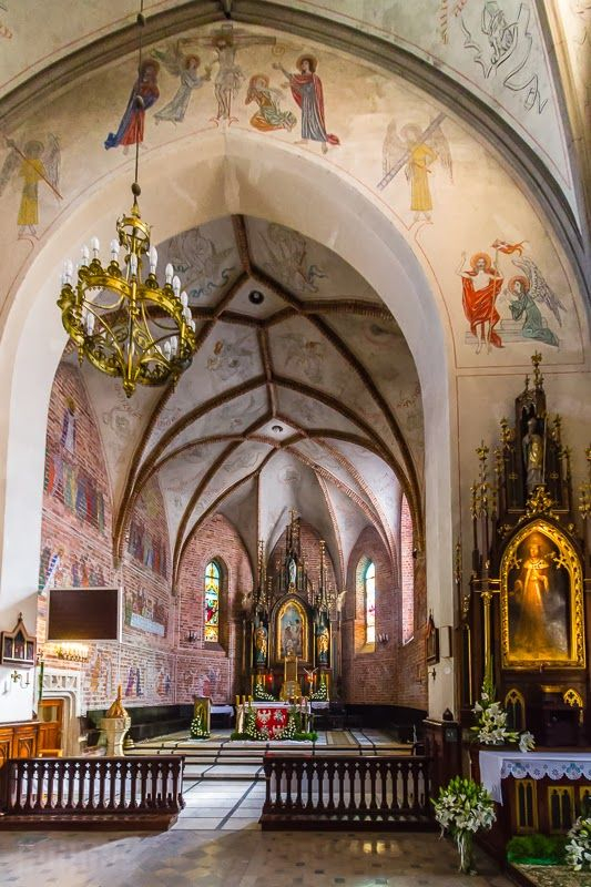 The altar in the Parish Church of St. John the Baptist (kosciol farny sw. Jana Chrzciciela), Radom, Poland
