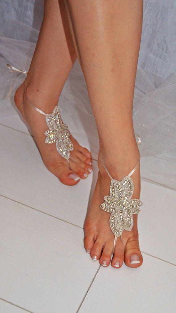Barefoot Sandals, Foot Jewelry, Barefoot Sandals, Wedding Shoes, Bohemian Barefoot Sandals, Beach Wedding, beach. handmade.
