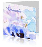 Bedankkaart met zachte kleuren in aquarel