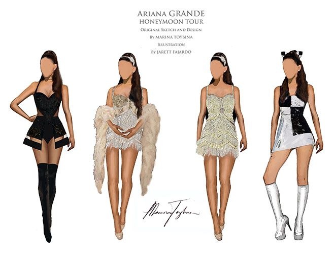 Ariana Grande's Honeymoon Tour: See Exclusive Costume Sketches - Hollywood Reporter