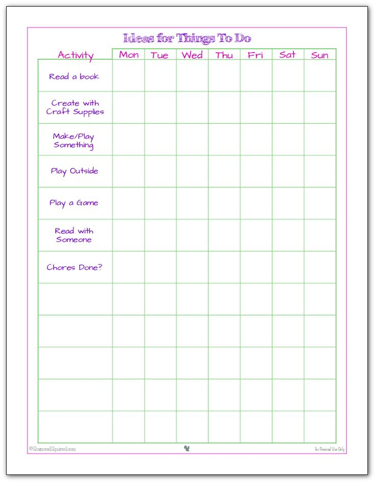 Adults aren't the only ones who can benefit from using to-do list. Teach your kids about time management and help them beat boredom with this handy, kid friendly, to-do list printable.