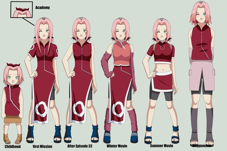 sakura haruno outfits - Google Search