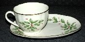 Lenox Holiday Fluted Cup Dessert Plate Set