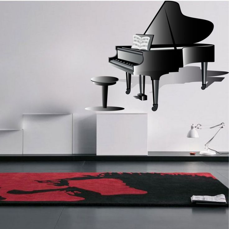 αυτοκόλλητο βινυλίου με πιάνο