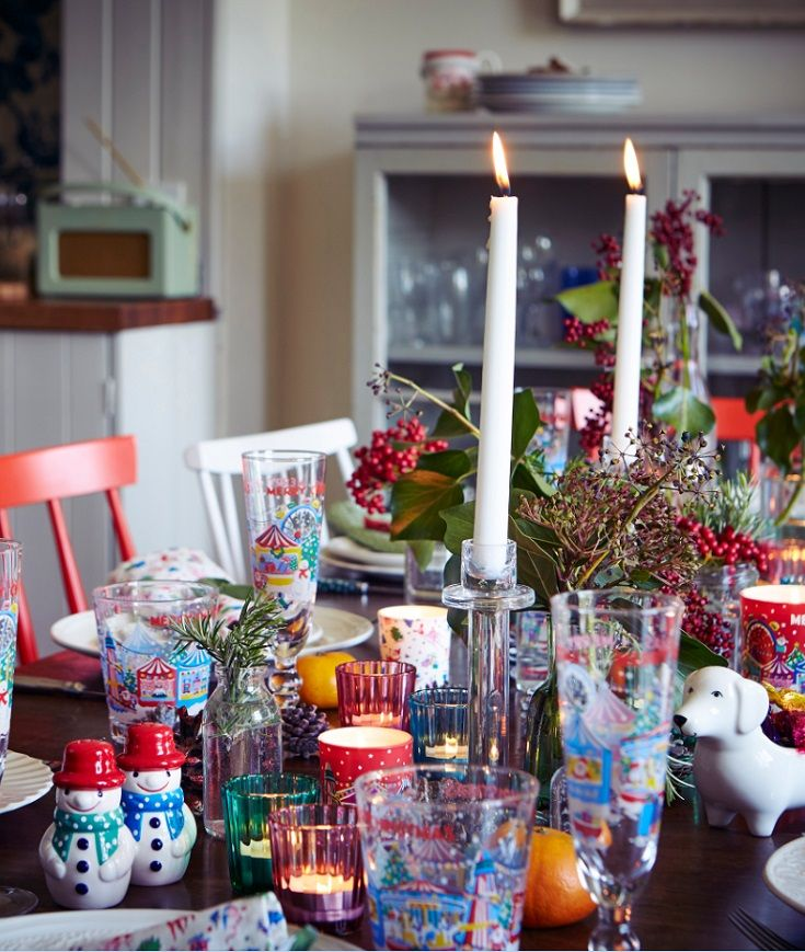 Love the christmas fair glasses and tableware from Cath Kinston  #CKCrackingChristmas