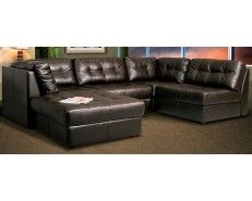 5 Piece Leather Sectional   Dark Chocolate   Sam Levitz Furniture | Home  Sweet Home | Pinterest | Leather Sectional And Showroom