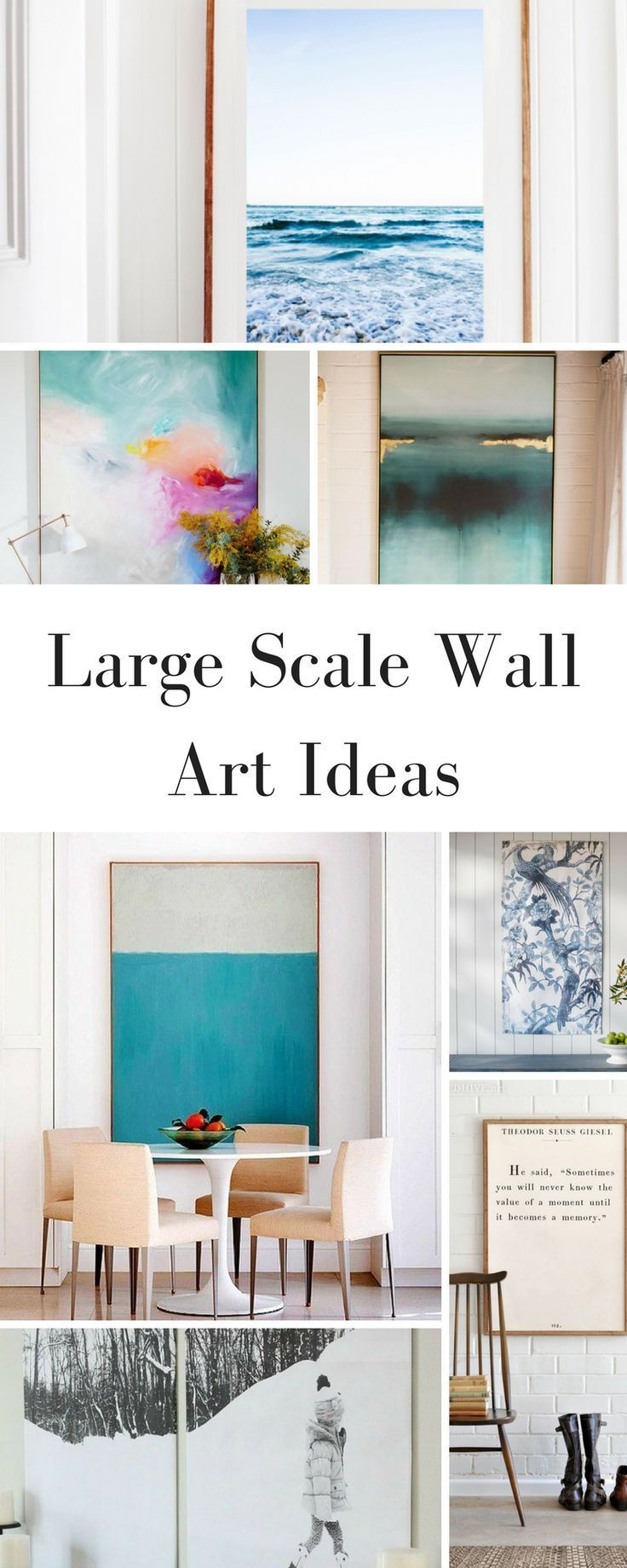 5 Large Wall Art Ideas For Your Empty Walls Diy Large Wall Art Large Scale Wall Art Dining Room Wall Art