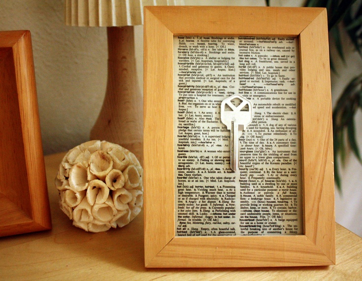 Frame your first house key