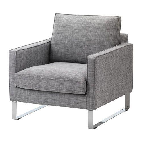 MELLBY Housse de fauteuil - Isunda gris - IKEA