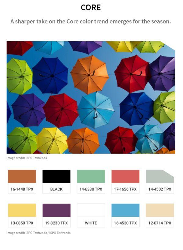 Colors Fall/Winter 2021/22 - Core #trends #color #pantone ...