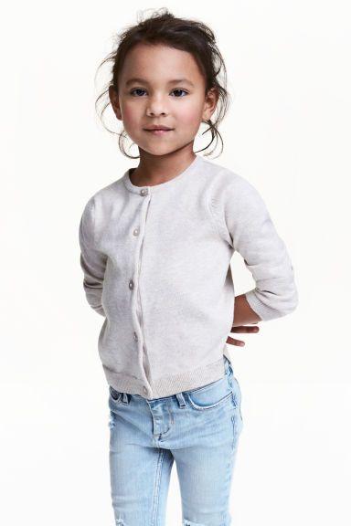 Cardigan in cotone - Light grey marl -  | H&M IT