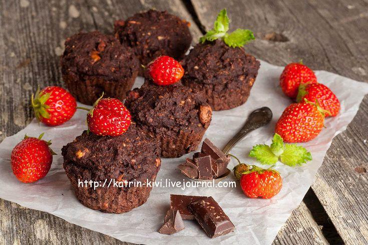 Шоколадные влажные кексы с арахисом