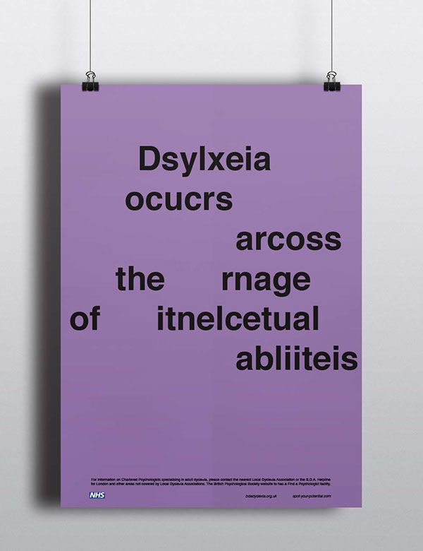 Dyslexia Awareness Campaign on Behance