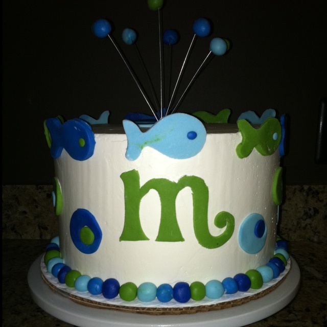 Fish theme cake!!