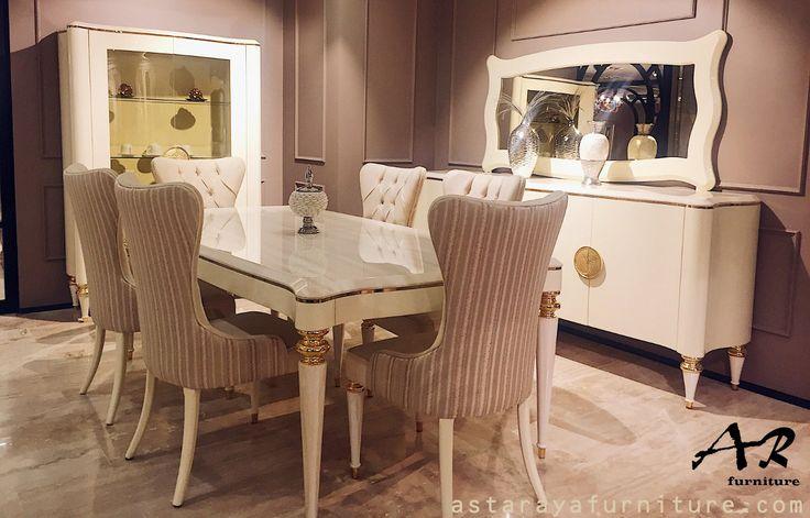 Set Meja Makan Modern Furniture Jepara