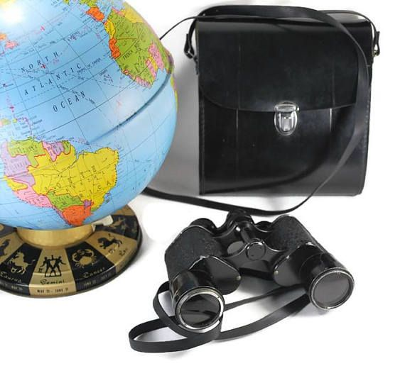 Vintage WRay Defiant Binoculars London with Case 1960's