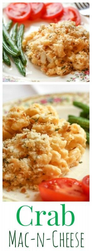 Creamy Baked Crab Mac-N-Cheese