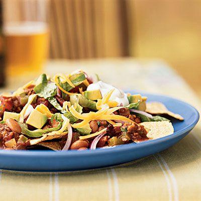 Vegetarian Chipotle Nachos: Meatless Mondays, Nachos Recipes, Chipotle Nachos, Vegetarian Chipotle, Cooking Light, Healthy Food, Healthy Recipes, Mexicans Recipes, Vegetarian Recipes