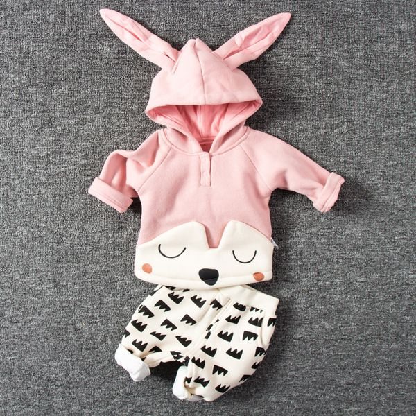 Девочка дети костюм Возраст 0 3 месяца одежда для новорожденных 1 мужской детская зимняя одежда 6 свитер плюс бархат осень и зима досуг
