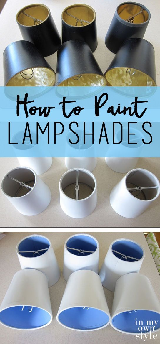 How to Paint Lampshades to brighten the lighting in your room.