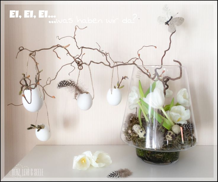 Love this contemporary Easter decor | www.facebook.de/HerzLeibSeele